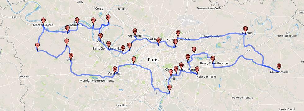 tracer itinéraire sur carte routière Route API