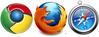 Firefox, Chrome et Safari