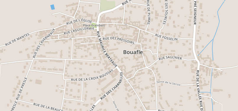 Plan de la ville de Bouafle (78)