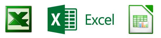 Notre service comprend les formats tableurs comme xlsx et ods